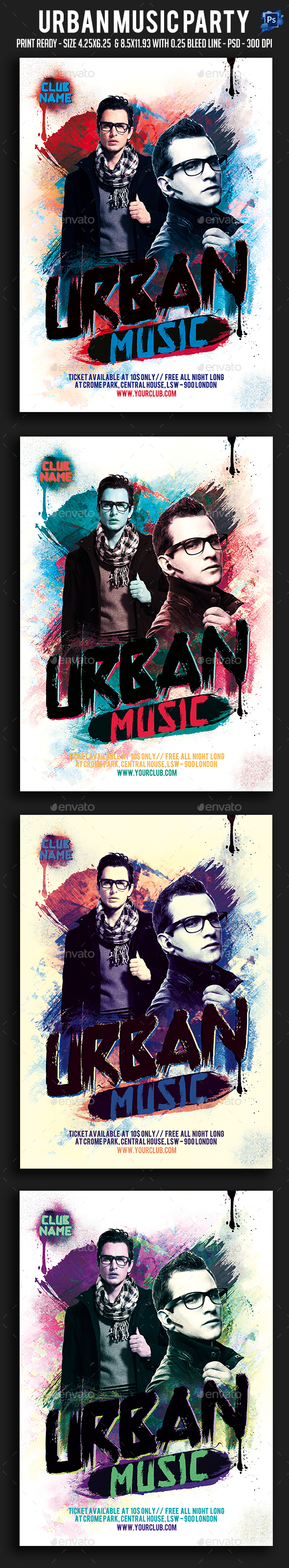 Urban Music Party Flyer - Clubs & Parties Events
