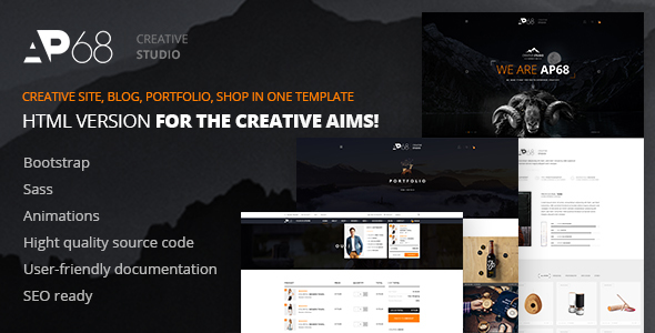 AP68 – Creative Multi-Purpose HTML5 Template