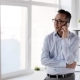 Businessman Calling on Smartphone at Office 39