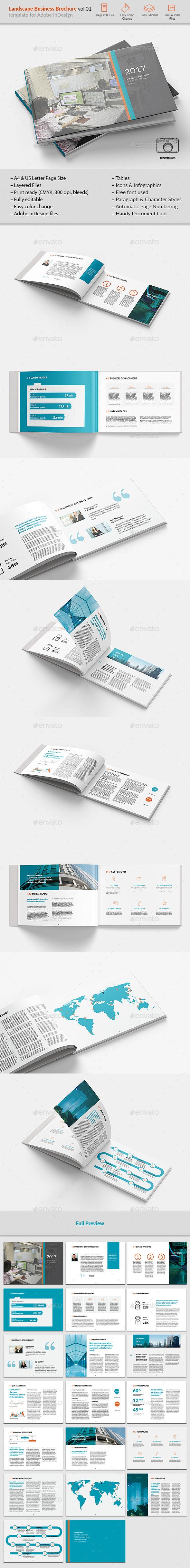 Landsape Business Brochure vol.01 - Brochures Print Templates