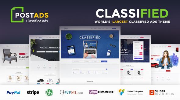 PostAds – Classified Ads Directory  WordPress Theme
