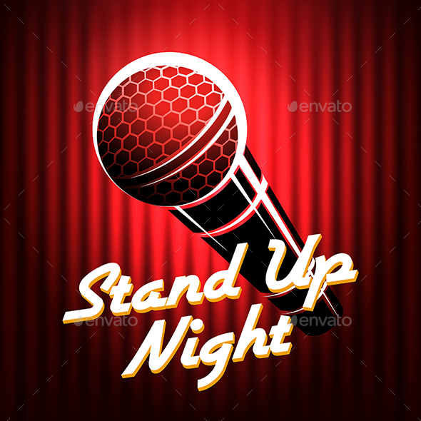 Stand Up Comedians Night Show Poster Template - Miscellaneous Conceptual
