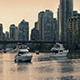 Yacht Sailing In Marina In The Evening - VideoHive Item for Sale