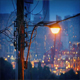Streetlight With City Twinkling In Background - VideoHive Item for Sale