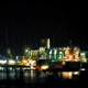 Tanker Docking Near City On Rainy Night - VideoHive Item for Sale