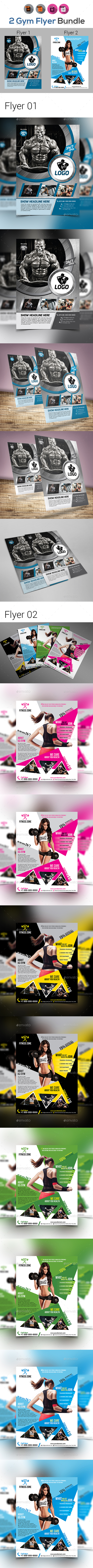 Fitness Flyer - Gym Flyer Bundle - Flyers Print Templates