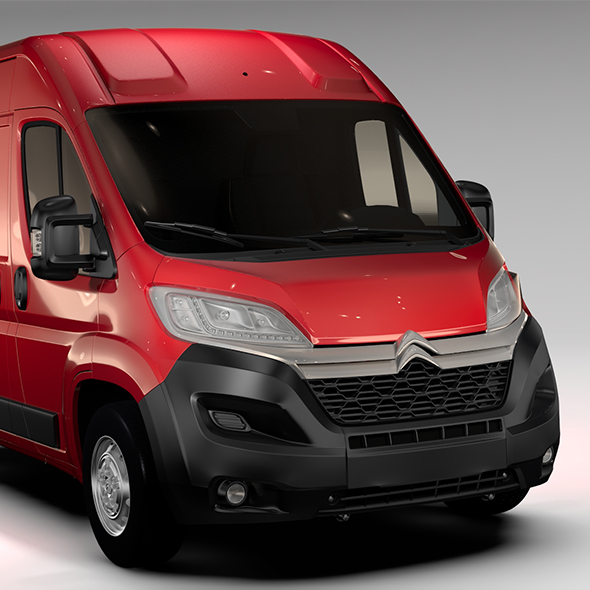 Citroen Jumper Van L1H2 2017 - 3DOcean Item for Sale