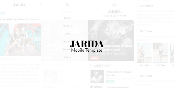 Jarida – Magazin Mobile Template