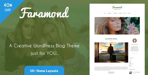 Faramond - Creative Blog WordPress Theme - Personal Blog / Magazine