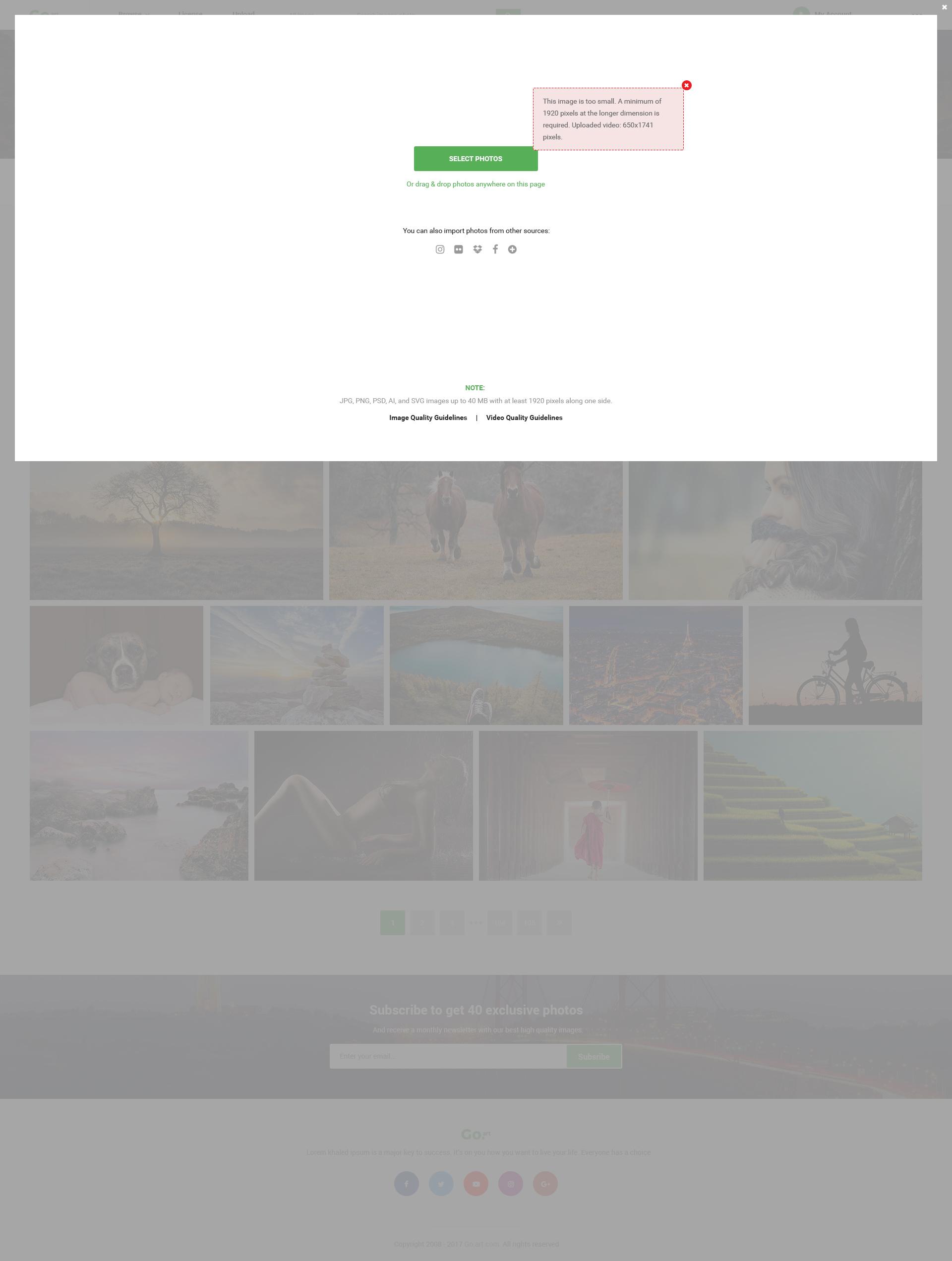 Go.Art - A Creative Art & Photography PSD Template by Htheme ...