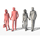 Low Poly Posed People Pack 4