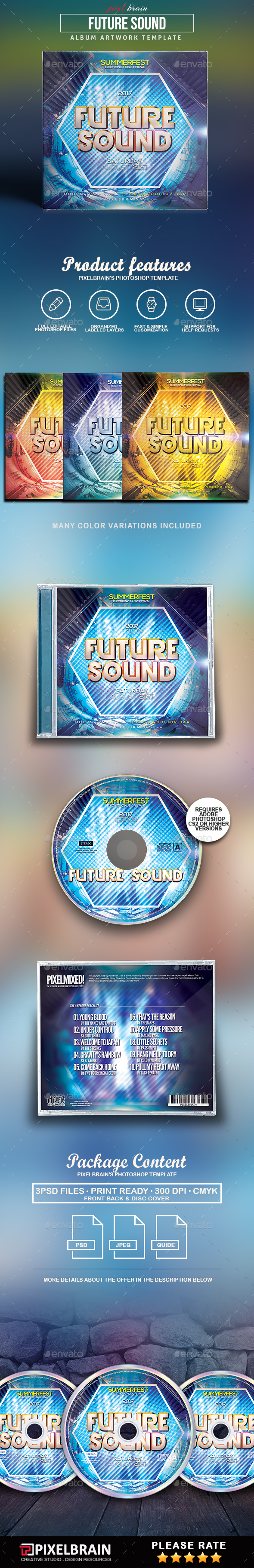 Future Sounds CD Cover Artwork - CD & DVD Artwork Print Templates