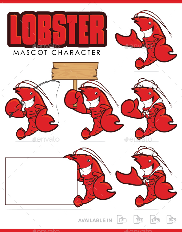 Lobster Mascot Character - Animals Characters