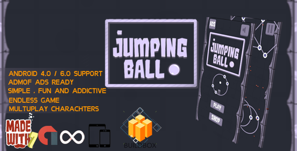 Jumping Ball Game Template | Admob (Banner + Interstitial ) +in game purchase - CodeCanyon Item for Sale