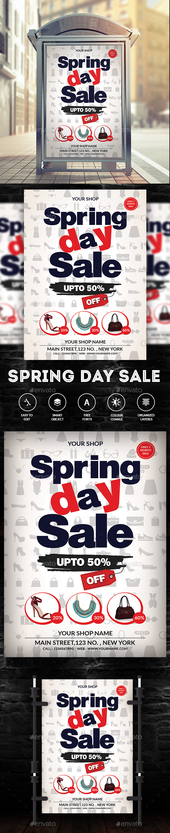 Spring Sale Flyer - Commerce Flyers