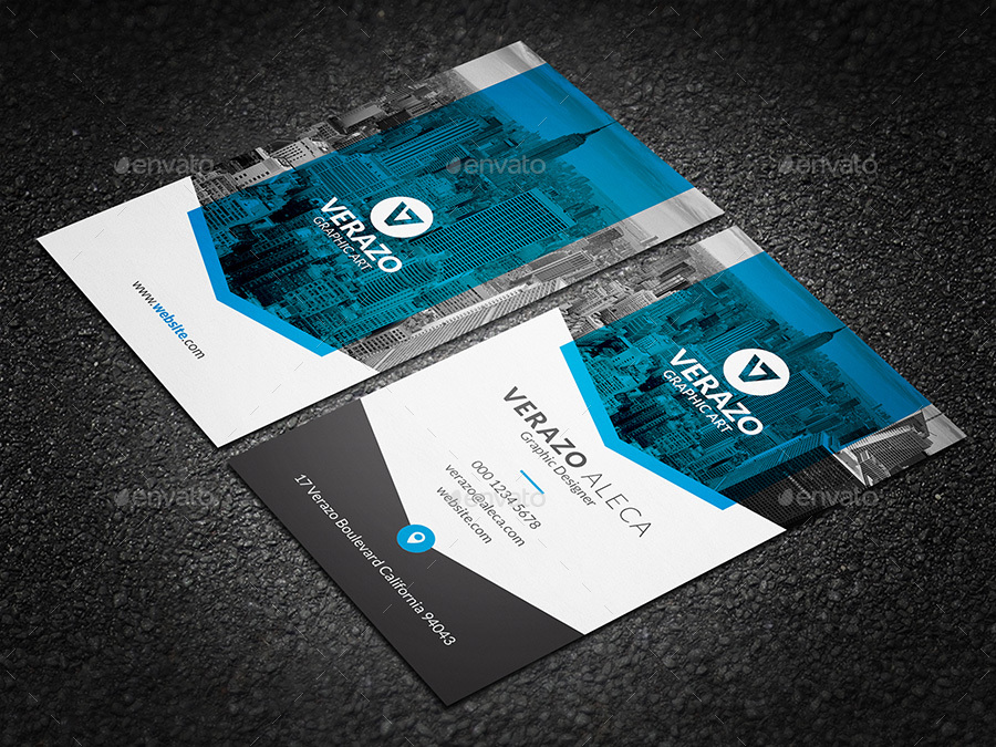 Clean modern vertical business card template by verazo graphicriver clean modern vertical business card template corporate business cards 01 previewsetg fbccfo