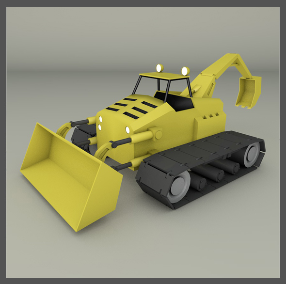 Tractor Backhoe - 3DOcean Item for Sale