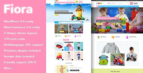 VG Fiora - WooCommerce WordPress Theme for Kids Store - WooCommerce eCommerce