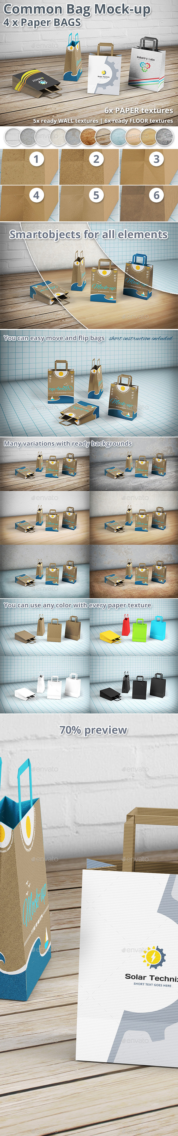 Paper Bag Mockup - Shopping Bag - Packaging Product Mock-Ups
