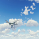 Quadcopter Drone - Cloudy Sky - VideoHive Item for Sale