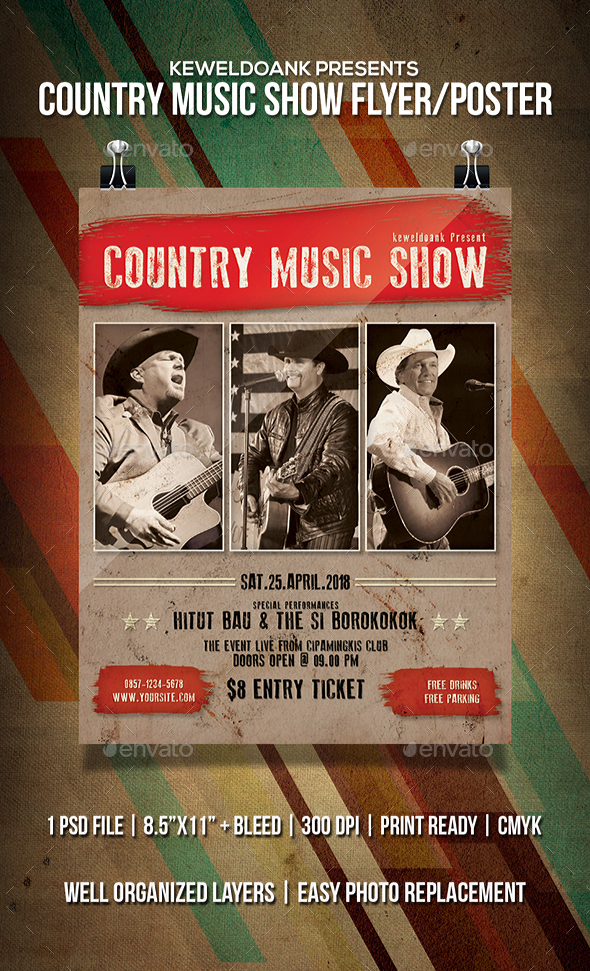 Country Music Show Flyer / Poster - Events Flyers