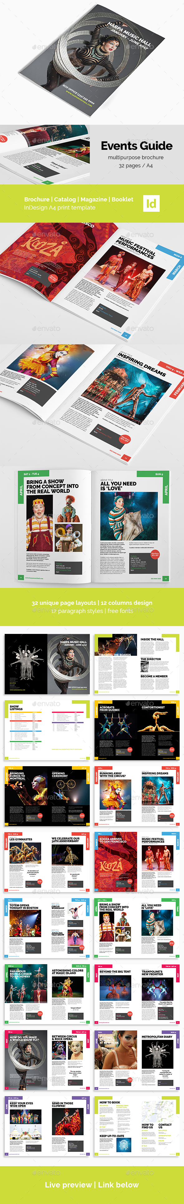 Event Guide | Creative Brochure - Magazines Print Templates