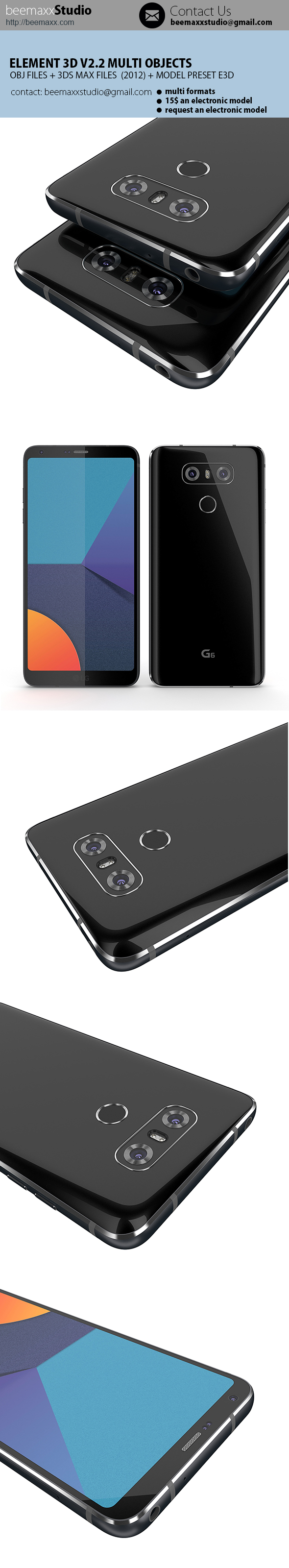 E3D V2.2 - LG G6 - 3DOcean Item for Sale