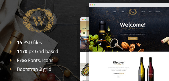 Best Wine – Wine and Winery PSD Template