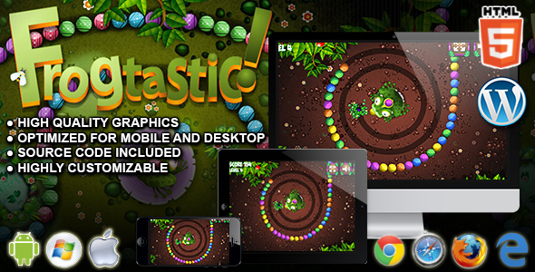 Frogtastic - HTML5 Puzzle Game - CodeCanyon Item for Sale
