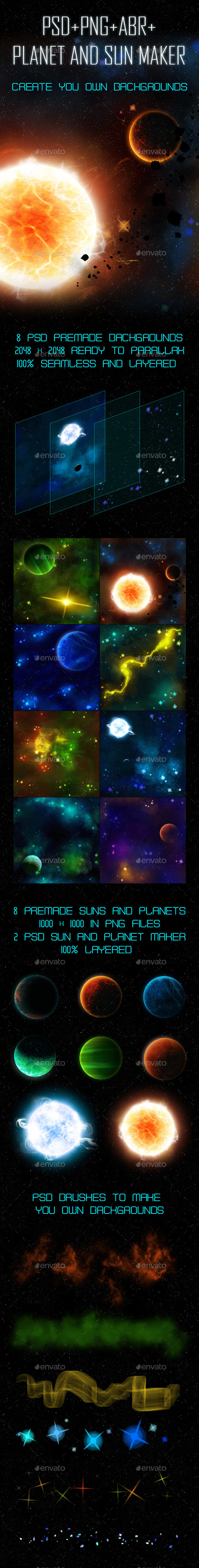Space Parallax Background Asset and Maker - Backgrounds Game Assets