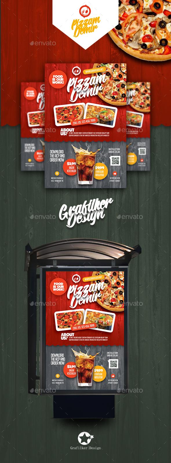 Restaurant Poster Templates - Signage Print Templates