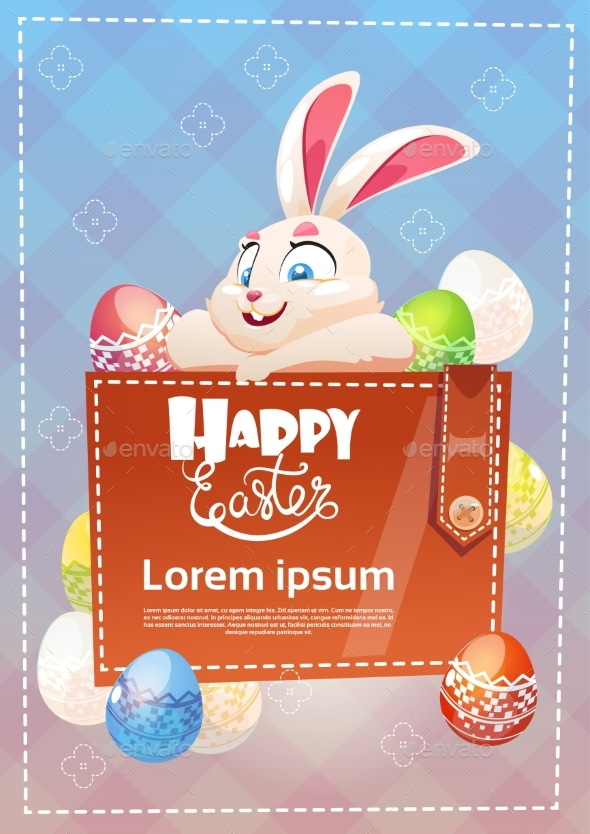 Decorated Colorful Eggs Rabbit Easter Holiday - Decorative Symbols Decorative
