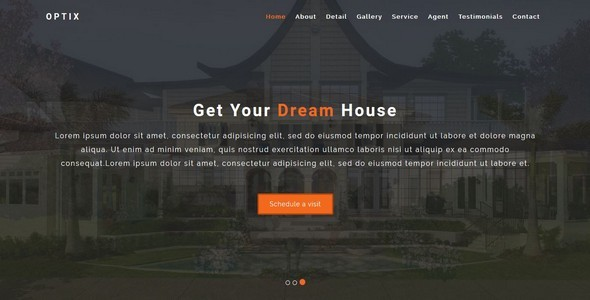 Optix-Single Property HTML5 Template