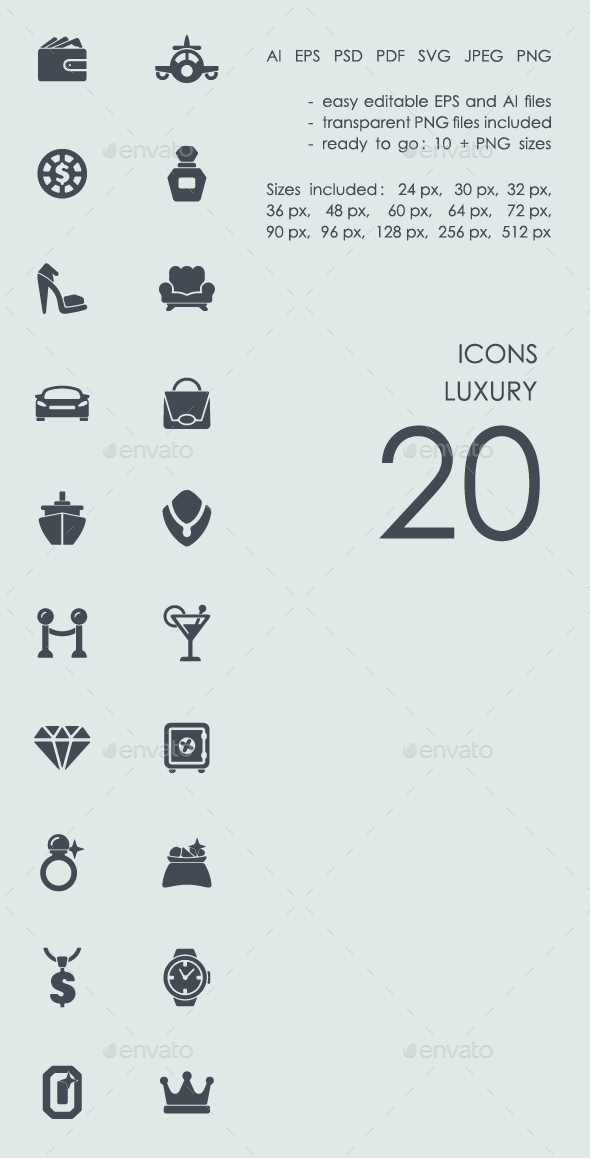Luxury icons - Abstract Icons