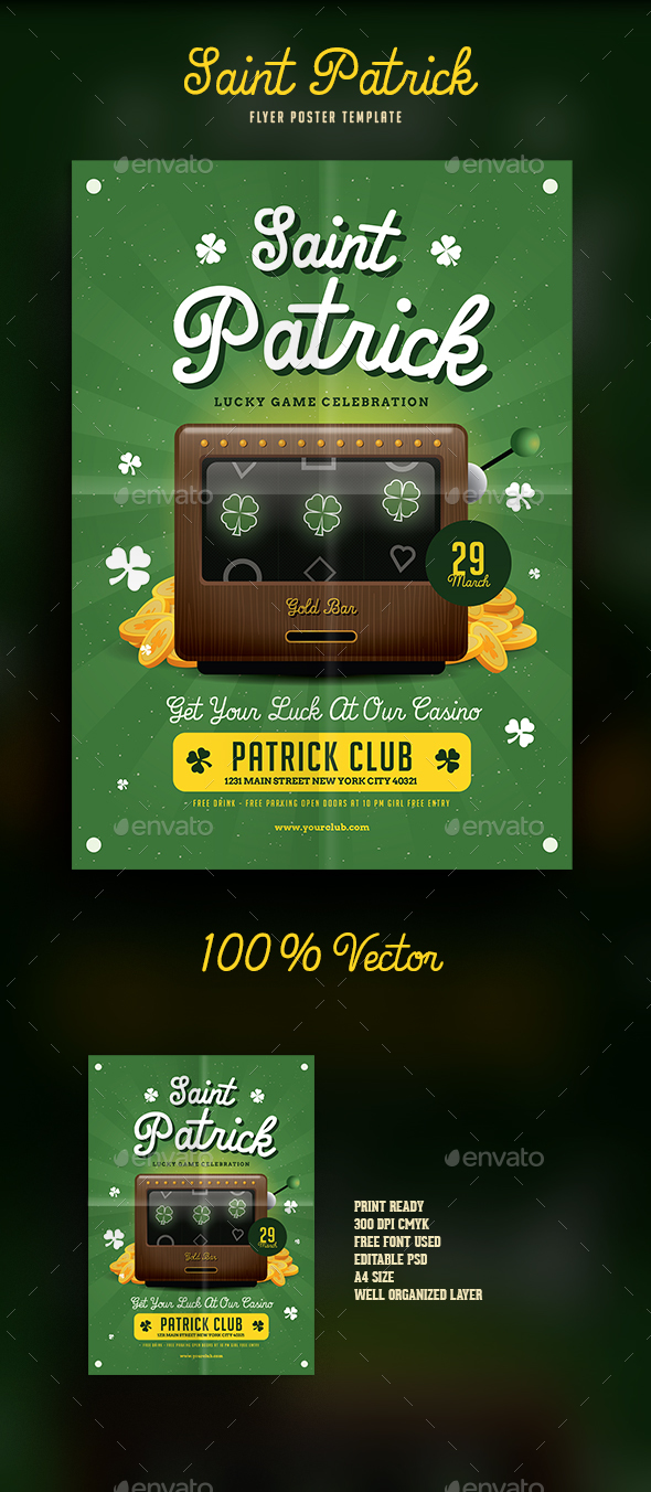 Saint Patrick's Game Flyer - Events Flyers