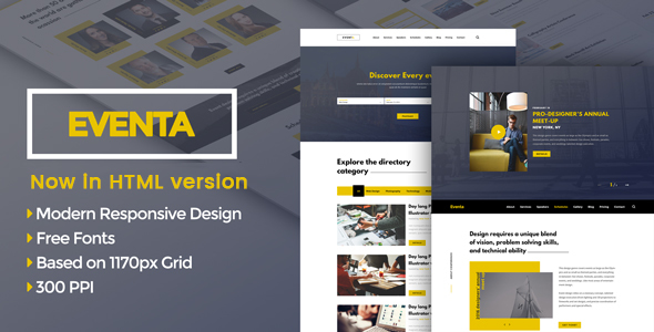 Eventa – One Page Event HTML Template