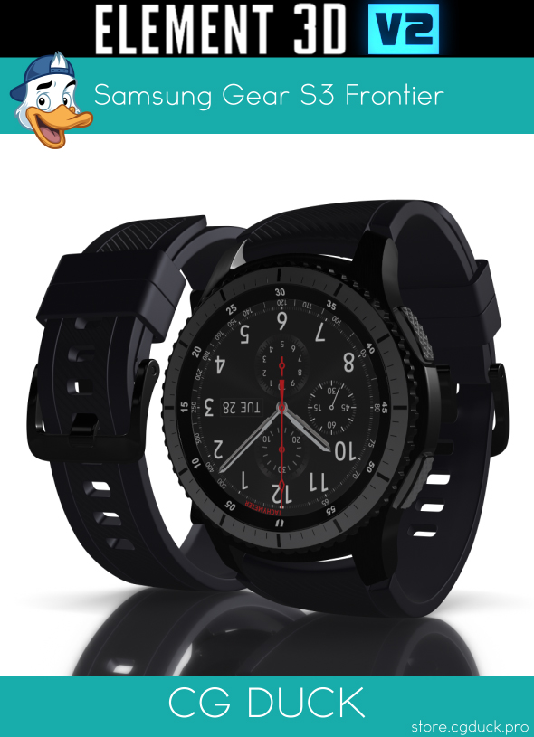 Samsung Gear S3 Frontier for Element 3D - 3DOcean Item for Sale