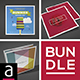 Square Creative Brochures Bundle No.4 - GraphicRiver Item for Sale