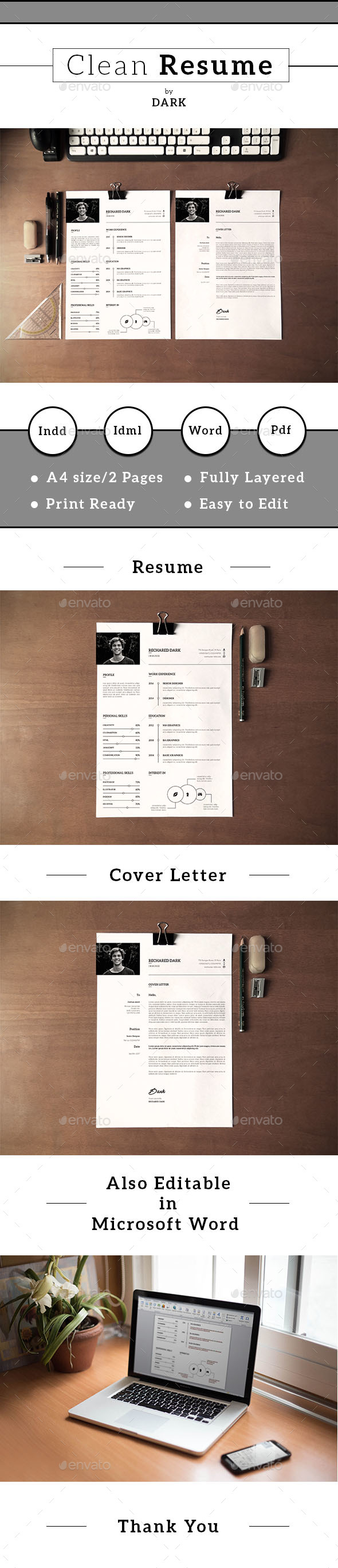 Resume/CV-V19 - Resumes Stationery