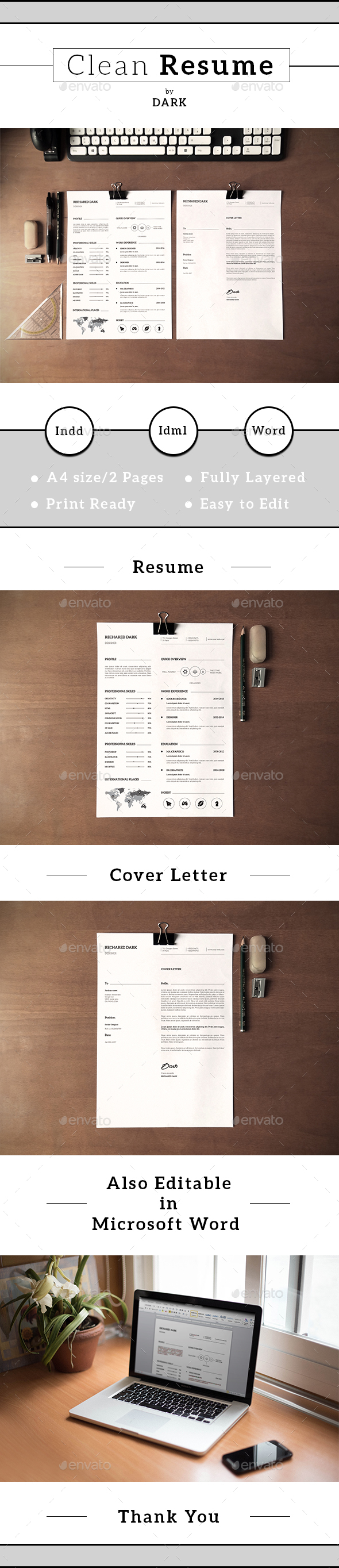 Minimal Resume/CV-V20 - Resumes Stationery