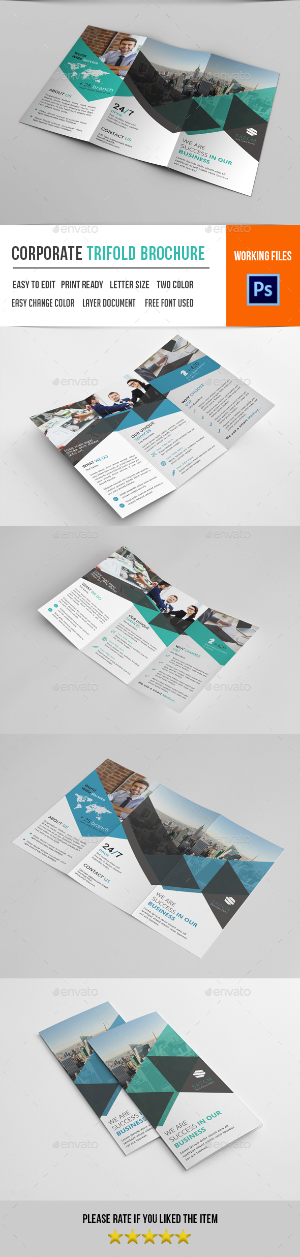 Corporate Trifold Brochure-V298 - Corporate Brochures