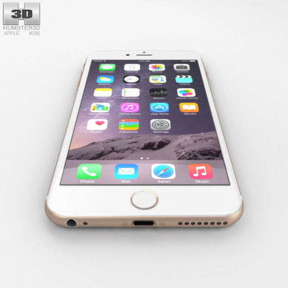 gold iphone 6 plus apple iphone 6 plus gold by humster3d 3docean 2197