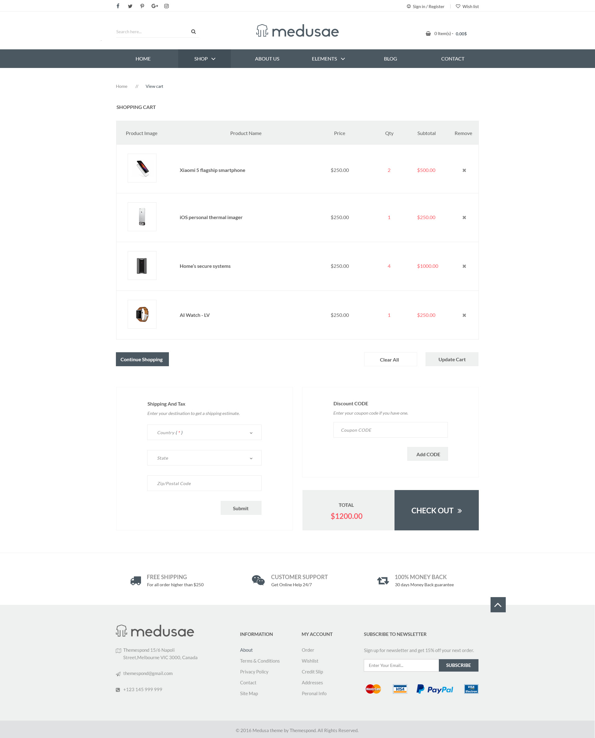 Medusae - Professional Responsive eCommerce HTML based on Bootstrap 3