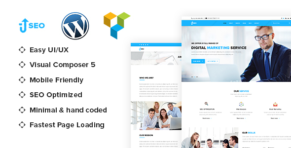 SEO - Marketing & SEO WordPress theme