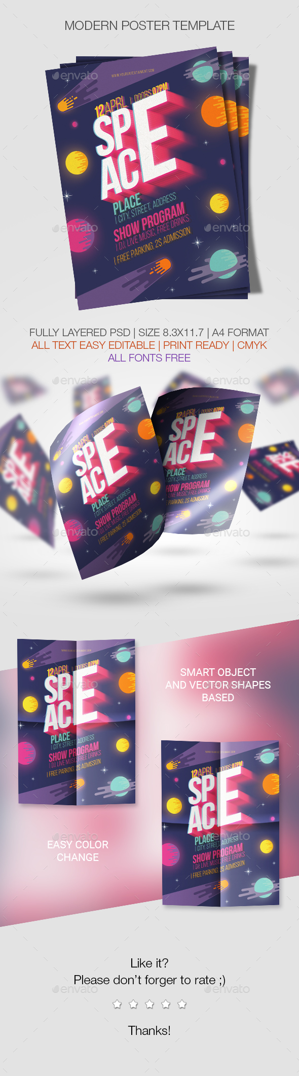 Space Poster Template - Events Flyers