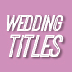 Elegant Wedding Titles - VideoHive Item for Sale