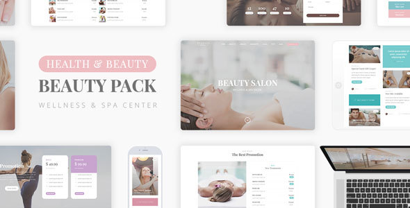 Wellness Beauty - Wellness Center PSD Template - Health & Beauty Retail
