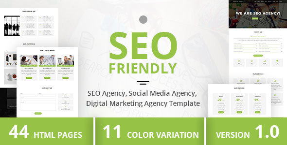 SEO Friendly – SEO Agency, Social Media Agency, Digital Marketing Agency Template