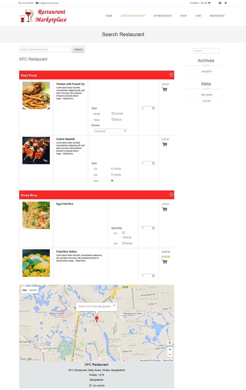 Online Multi Restaurants Marketplace For Woocommerce By