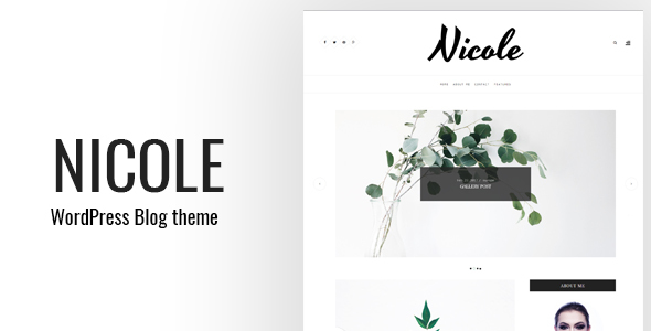 Nicole - Clean WordPress Blog Theme
